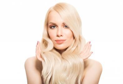 Нова прическа! Боядисване с боя на клиента и оформяне на прическа със сешоар в салон за красота Bibi Fashion! - Снимка
