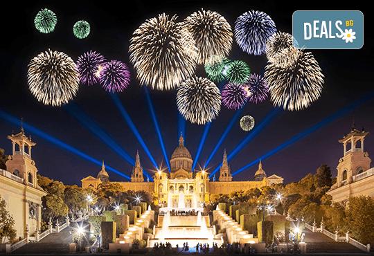 Нова година в Барселона с Trips2go! Самолетен билет, 3 нощувки със закуски в Expo Hotel Barcelona 4*, водач, по желание посещение на Ноу Камп, Монсерат и Фигерас - Снимка 1