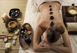 Геотермална СПА терапия! Масаж на цяло тяло със суфле от вулканични камъни и изворна вода, маска на масажна яка или кръст и инфрачервена борова сауна в Senses Massage & Recreation! - Снимка
