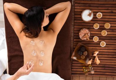 60-минутна лечебна терапия - ароматерапевтичен масаж цяло тяло и лечебен масаж с вендузи на гръб в салон Женско Царство! - Снимка