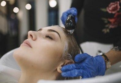 Измиване с професионални продукти Milk Shake, маска според типа коса и прав сешоар в салон за красота Golden Angel! - Снимка