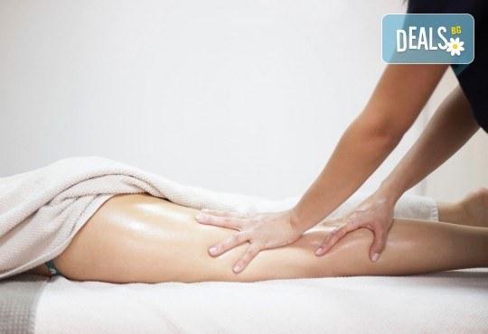 Дълбокозагряващ масаж на гръб и задна част на целите крака + фламбе масаж на гръб и стъпала в луксозния Senses Massage & Recreation! - Снимка 3