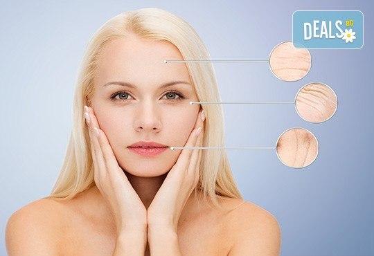 Анти ейдж терапия с коктейл от еластин и колаген + лифтинг масаж в салон за красота Вили! - Снимка 1