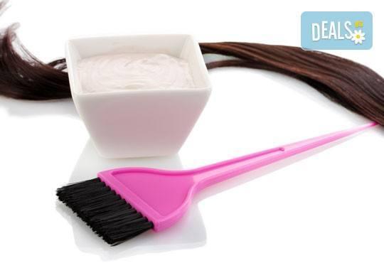 Вашият нов цвят! Боядисване с боя на клиента, терапия с Selective, кератинова терапия с маска + прическа в Салон Blush Beauty! - Снимка 5