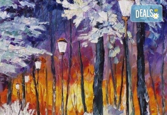 """""""Зимни фенери""""! 3 часа рисуване с вино на 15-ти декемви (неделя) - рисуване на картина с акварел + чаша вино под инструкциите на професионален художник в Пух арт студио - Снимка 1"""