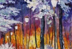 """""""Зимни фенери""""! 3 часа рисуване с вино на 15-ти декемви (неделя) - рисуване на картина с акварел + чаша вино под инструкциите на професионален художник в Пух арт студио - Снимка"""