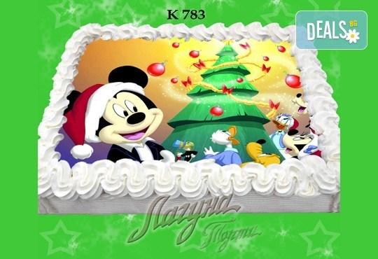 Празнична сладост! Коледна детска торта с картинка по избор и превъзходен вкус от Виенски салон Лагуна! - Снимка 13