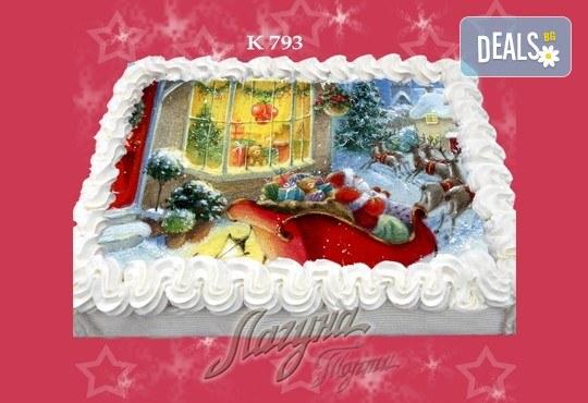 Празнична сладост! Коледна детска торта с картинка по избор и превъзходен вкус от Виенски салон Лагуна! - Снимка 8