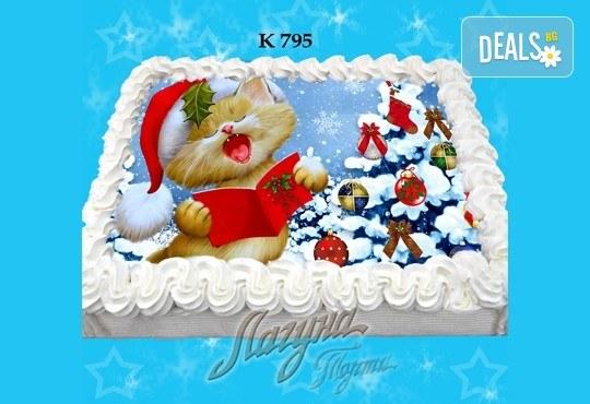 Празнична сладост! Коледна детска торта с картинка по избор и превъзходен вкус от Виенски салон Лагуна! - Снимка 7
