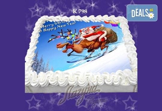 Празнична сладост! Коледна детска торта с картинка по избор и превъзходен вкус от Виенски салон Лагуна! - Снимка 15