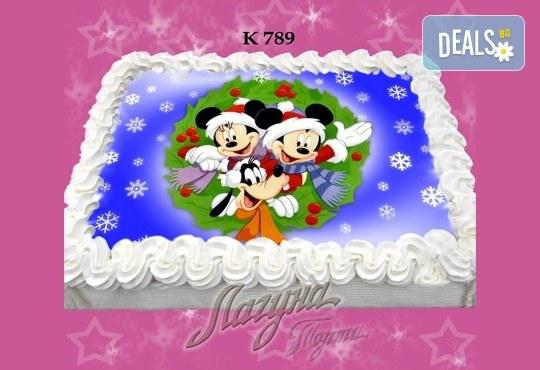Празнична сладост! Коледна детска торта с картинка по избор и превъзходен вкус от Виенски салон Лагуна! - Снимка 10