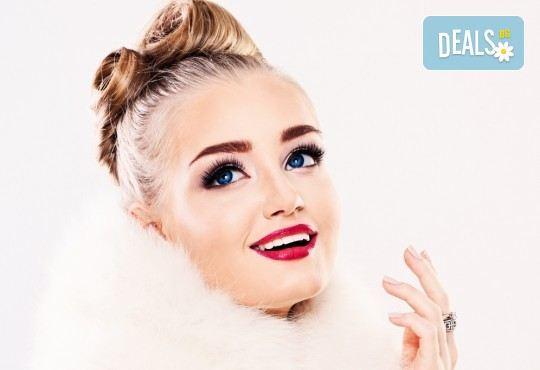 Поставяне на копринени или диамантени мигли чрез метод по избор - косъм по косъм или 3D в салон за красота Неви в Центъра! - Снимка 1