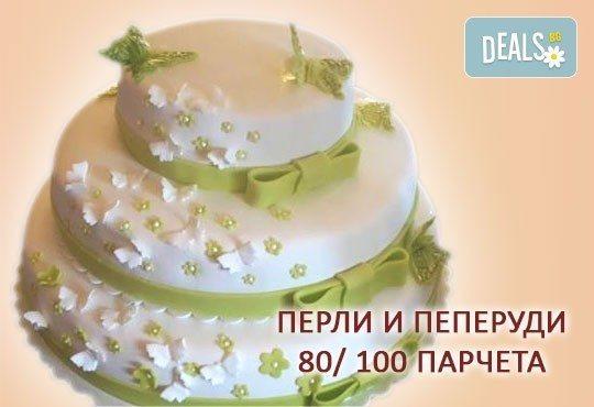 За Вашата сватба! Бутикова сватбена торта с АРТ декорация от Сладкарница Джорджо Джани - Снимка 17