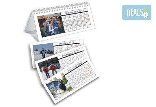 Зарадвайте семейството! Два или четири броя семеен настолен календар - пирамида 12 листа с 12 Ваши снимки от Офис 2 - Снимка 2