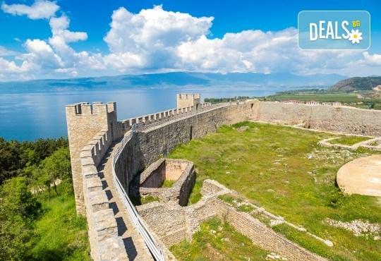 Почивка край брега на Охридското езеро през лятото! 5 нощувки със закуски и вечери във вила Ловец, транспорт и посещение на Скопие - Снимка 5