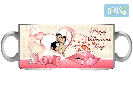 За Св. Валентин! Чаша с любима снимка и любовно послание за деня на влюбените от Сувенири Царево! - Снимка 4