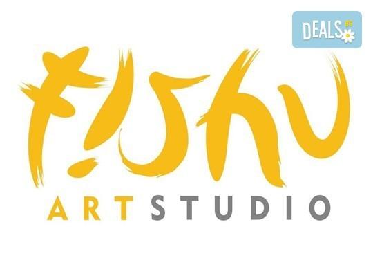 Рисуване на картина Приключения с акрил на 22.01. от 18.30ч. с напътствията на професионален художник и чаша вино от Fishu.Art - Снимка 17