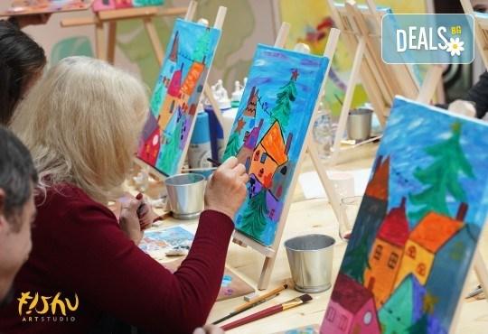 Рисуване на картина Приключения с акрил на 22.01. от 18.30ч. с напътствията на професионален художник и чаша вино от Fishu.Art - Снимка 5