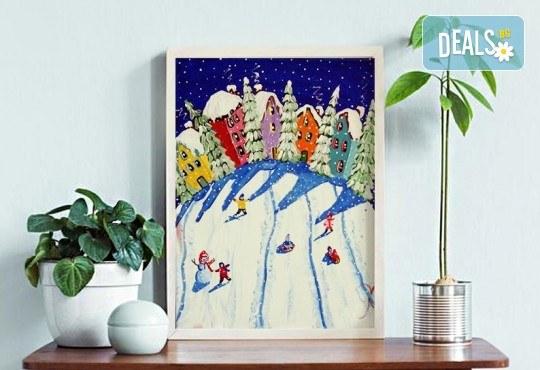 Рисуване на картина Приключения с акрил на 22.01. от 18.30ч. с напътствията на професионален художник и чаша вино от Fishu.Art - Снимка 1