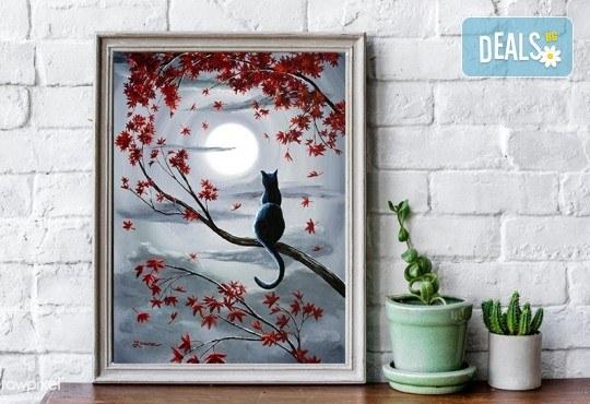 Рисуване на картина Романтика с акрил на 28.01. от 18.30ч. с напътствията на професионален художник и чаша вино от Fishu.Art - Снимка 1