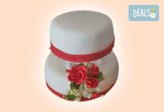 Торта с цветя! Празнична 3D торта с пъстри цветя, дизайн на Сладкарница Джорджо Джани - Снимка 43
