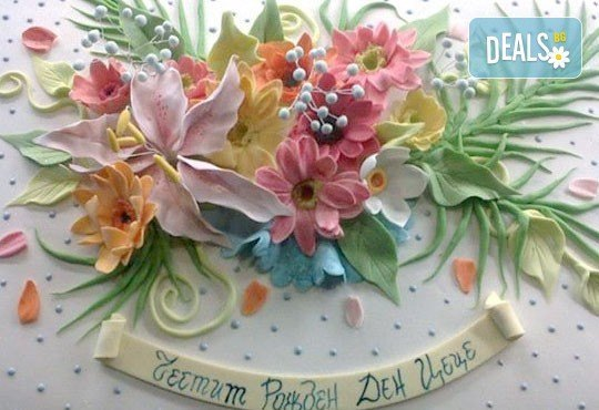 Торта с цветя! Празнична 3D торта с пъстри цветя, дизайн на Сладкарница Джорджо Джани - Снимка 29