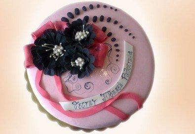 С доставка през април, май и юни! Цветя: празнична 3D торта с пъстри цветя, дизайн на Сладкарница Джорджо Джани - Снимка