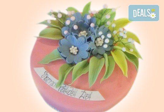 Торта с цветя! Празнична 3D торта с пъстри цветя, дизайн на Сладкарница Джорджо Джани - Снимка 22