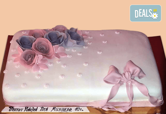 Торта с цветя! Празнична 3D торта с пъстри цветя, дизайн на Сладкарница Джорджо Джани - Снимка 12