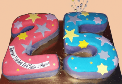 С цифри! Изкушаващо вкусна бутикова АРТ торта с цифри и размер по избор от Сладкарница Джорджо Джани