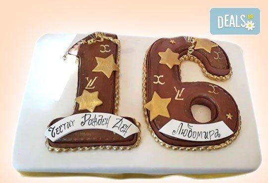 С доставка през март и април! Изкушаващо вкусна бутикова АРТ торта с цифри и размер по избор от Сладкарница Джорджо Джани - Снимка 12