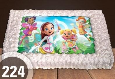 С доставка през март и април! Торта за момичета: красиви торти със снимкa с герои от любим филм за малки и големи госпожици от Сладкарница Джорджо Джани - Снимка