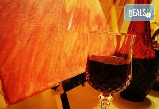 Настроение и изкуство! 3 часа арт занимания по избор и чаша вино в Арт школа Слънчеви приказки - Снимка 4