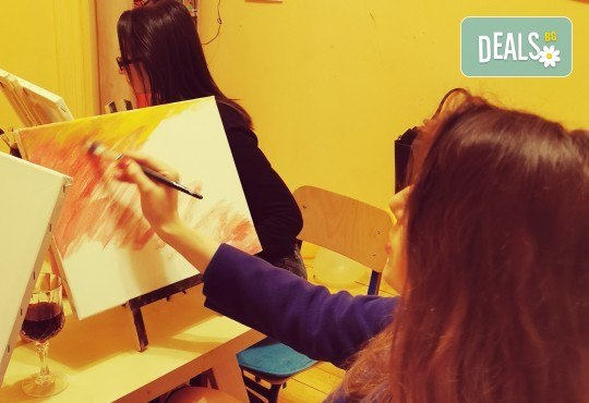 Настроение и изкуство! 3 часа арт занимания по избор и чаша вино в Арт школа Слънчеви приказки - Снимка 5