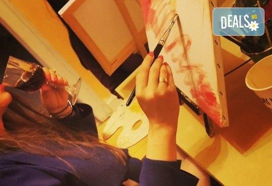 Настроение и изкуство! 3 часа арт занимания по избор и чаша вино в Арт школа Слънчеви приказки - Снимка 6