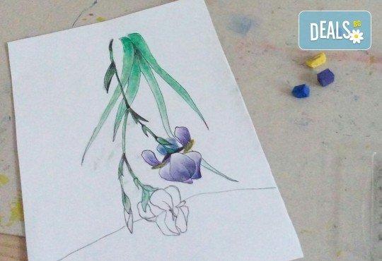 Настроение и изкуство! 3 часа арт занимания по избор и чаша вино в Арт школа Слънчеви приказки - Снимка 8