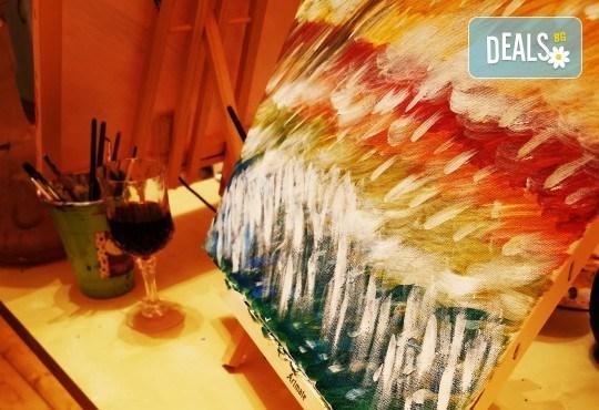 Настроение и изкуство! 3 часа арт занимания по избор и чаша вино в Арт школа Слънчеви приказки - Снимка 2