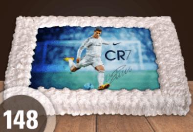 С доставка през март и април! За феновете на спорта: торта със снимка за почитателите на футбола или други спортове от Сладкарница Джорджо Джани - Снимка