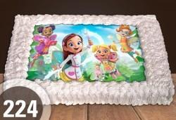 За най-малките! Голяма торта със снимка 20, 25 или 30 парчета за празника на Вашето дете с герой от филм от Сладкарница Джорджо Джани - Снимка