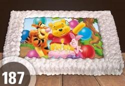 С доставка през март и април! За най-малките: голяма торта със снимка 20, 25 или 30 парчета за празни - Снимка