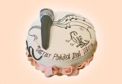 С доставка през април, май и юни! За музиканти: торта за DJ, музиканти, певци, художници и артисти от Сладкарница Джорджо Джани - Снимка