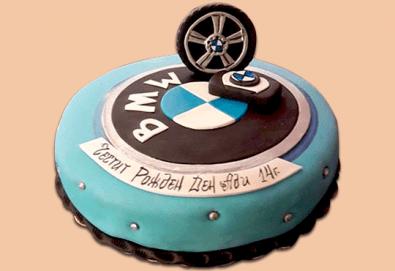 С доставка през април, май и юни! Торта за мъже с индивидуален дизайн и размери по избор от Сладкарница Джорджо Джани - Снимка