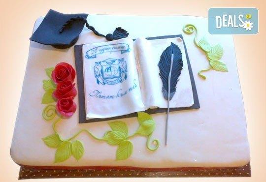 За завършване! Торта за ученици, абитуриенти, абсолвенти, докторанти, учени с красив дизайн от Сладкарница Джорджо Джани - Снимка 12