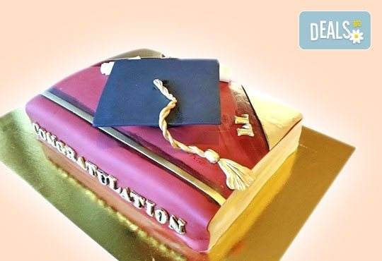 За завършване! Торта за ученици, абитуриенти, абсолвенти, докторанти, учени с красив дизайн от Сладкарница Джорджо Джани - Снимка 10