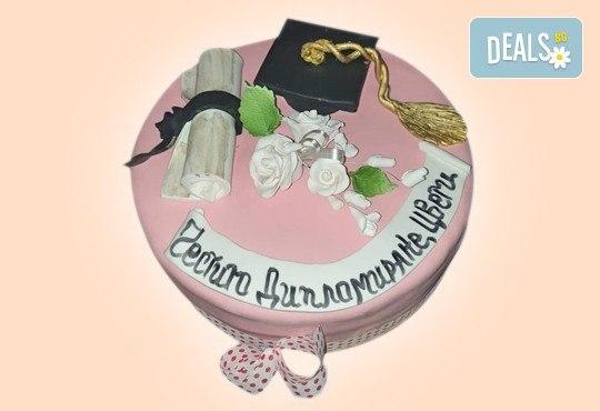 За завършване! Торта за ученици, абитуриенти, абсолвенти, докторанти, учени с красив дизайн от Сладкарница Джорджо Джани - Снимка 9