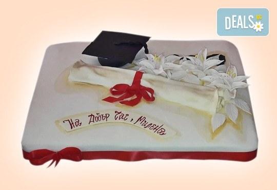 За завършване! Торта за ученици, абитуриенти, абсолвенти, докторанти, учени с красив дизайн от Сладкарница Джорджо Джани - Снимка 8