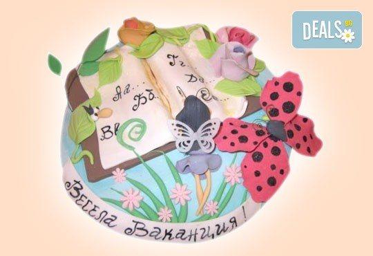 За завършване! Торта за ученици, абитуриенти, абсолвенти, докторанти, учени с красив дизайн от Сладкарница Джорджо Джани - Снимка 6