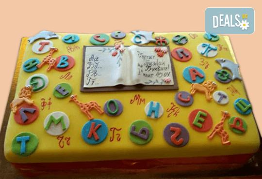 За завършване! Торта за ученици, абитуриенти, абсолвенти, докторанти, учени с красив дизайн от Сладкарница Джорджо Джани - Снимка 1