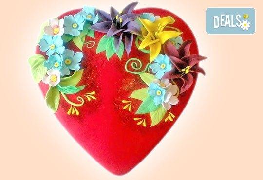 С доставка през април, май и юни! АМОРЕ: подарете Торта Сърце по дизайн на Сладкарница Джорджо Джани - Снимка 13
