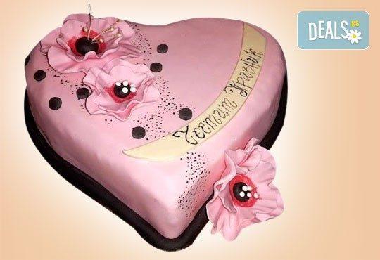 С доставка през април, май и юни! АМОРЕ: подарете Торта Сърце по дизайн на Сладкарница Джорджо Джани - Снимка 2